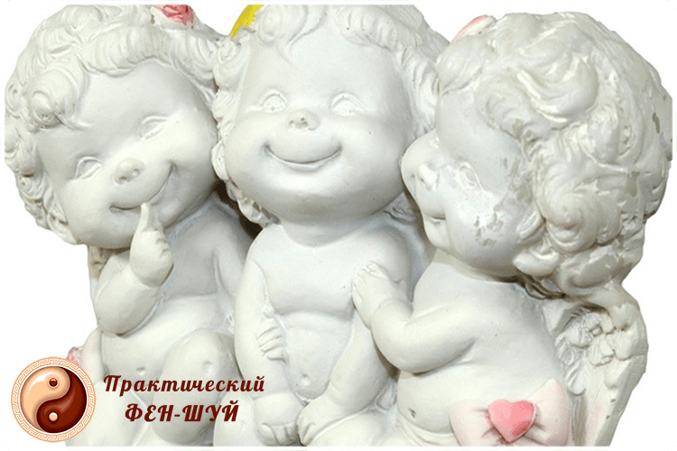 ангелки из фарфора